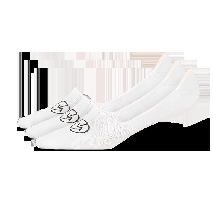 3x Ponožky Neviditeľné White