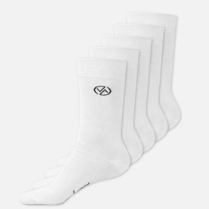 5 x Ponožky Vysoké Bílé